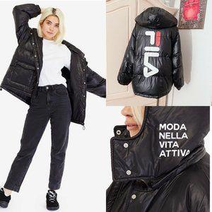 FILA Sportswear Waterproof Hooded Puffer Jacket